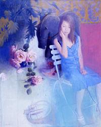 蛭田均 「青い服の少女」