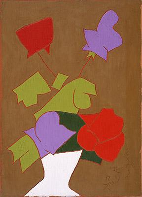 熊谷守一「薔薇」油彩 4F