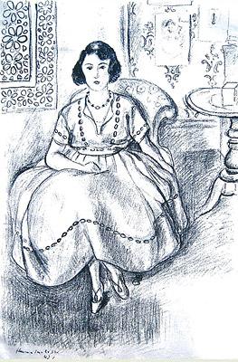 アンリ・マティス《オーガンディーのドレス 1922》リトグラフ