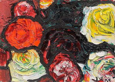 林 武 「薔 薇」 油彩 4F