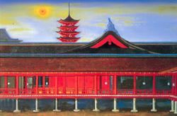 厳島神社 2006年 72.7×106cm